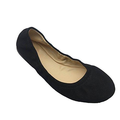Shengbin Pzz Ballerines Femme, Noir (noir), 42 Eu M