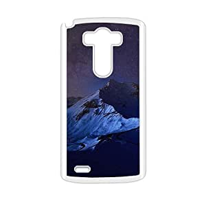 Gloomy Night Mountains White Phone Case for LG G3