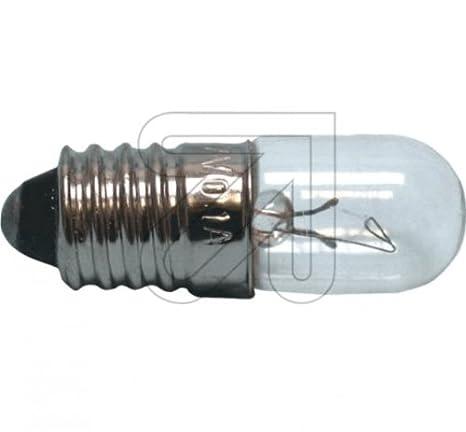 Glühlampe 18V 100mA 1,8W E10 10x28mm Glühbirne Lampe Birne 18Volt 1,8Watt neu