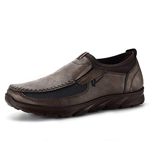 DODOING Fashion Men's Winter Leather Casual Shoes Breathable Antiskid Loafers Moccasins (Shoes Winter Casual)