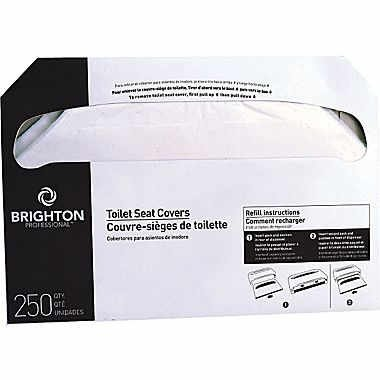 Brighton Professional Half-Folded Toilet Seat Covers, 5000/case (BPR24775)