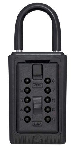 Kidde AccessPoint 001406 KeySafe 3-Key Portable Push Button Key Safe Box, Black