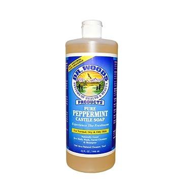 Dr. Woods Pure Castile Soap Peppermint, 32 Fluid Ounce