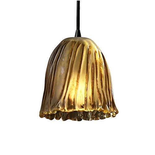 - Justice Design Group Lighting GLA-8815-56-AMBR-MBLK-BKCD Veneto Luce - Mini 1-Light Pendant - Tulip w/Rippled Rim Shade - Matte Black - Amber