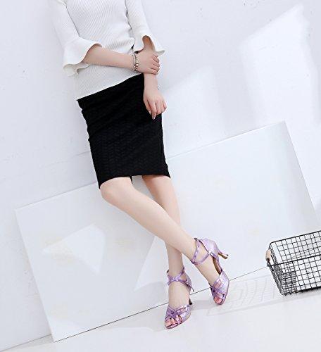 5cm Purple Heel Minitoo de femme 7 bal Salle WHfPp