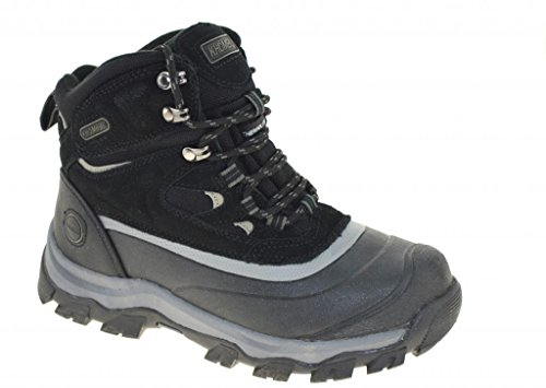 Khombu Mens Flume Waterproof Winter Snow Boots, Black, 9.0