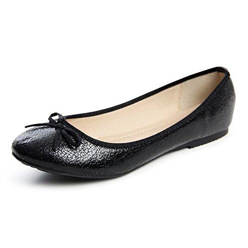 topschuhe24 1362 Damen Ballerina Slipper Halbschuhe Loafer NY Black