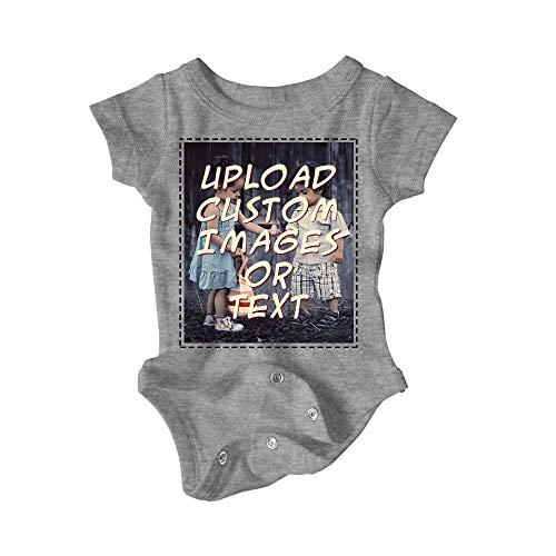 Custom Baby Onesie/Bodysuit Make It What You Want (Dark Grey, 6 Month)