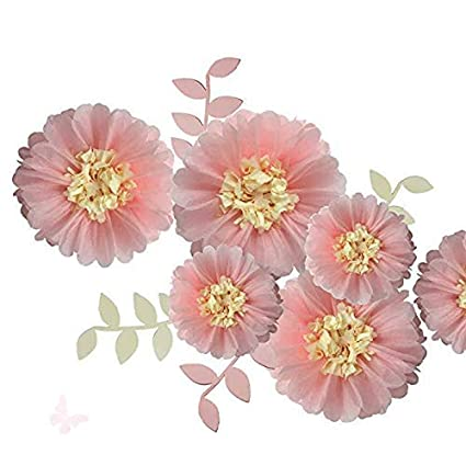 Amazon Fonder Mols Pink Paper Flowers Decorations Tissue Paper