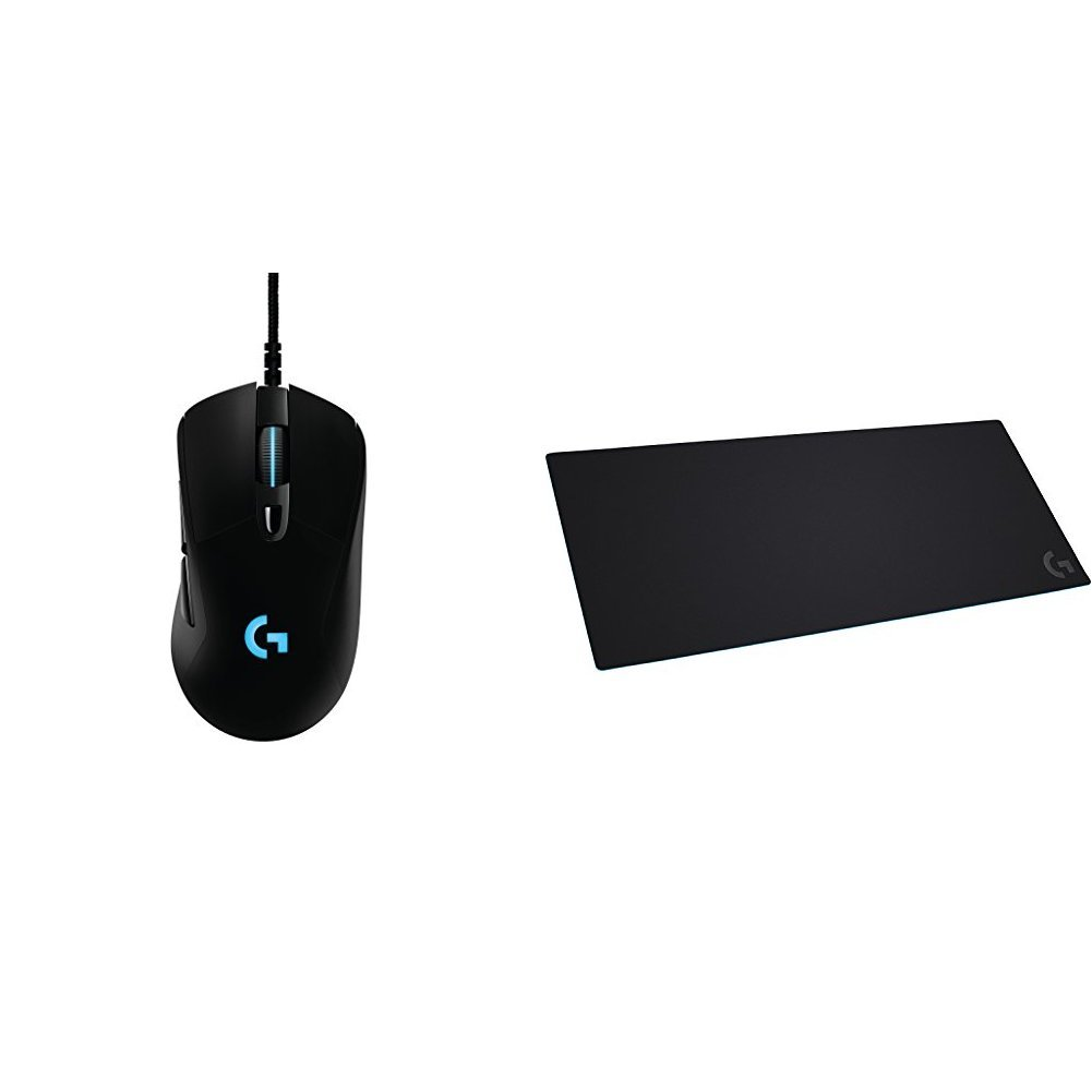 Logitech G403 Prodigy RGB Gaming Mouse & Logitech G840 XL Cloth Gaming Mouse Pad bundle