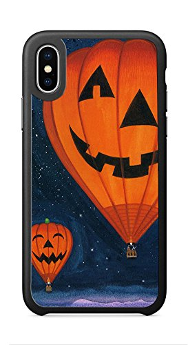 VUTTOO Case for Apple iPhone X 5.8inch - Pumpkin Lights Hot Air Balloon Case - Shock Absorption Protection Phone Cover Case