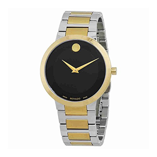 Movado Modern Classic Black Dial Two-tone Mens Watch 0607120