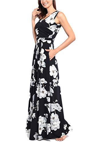 c99748af770f Comila Women's Summer V Neck Floral Maxi Dress Casual Long Dresses ...