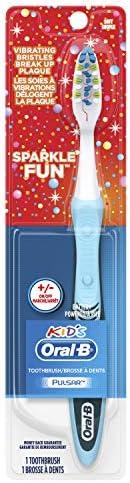 Oral B Kid's Sparkle Fun Pulsar Manual Toothbrush, 1 c