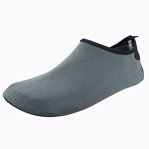 SENFI Exercise Outdoor Surf Pool Aqua Barefoot Shoes Men Unisex Grey Shoes Women Water Athletic Beach PxSrPR
