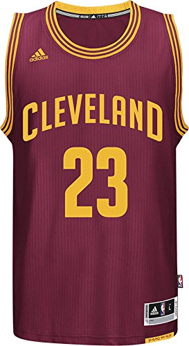 a1c3409ca00 adidas A61199 NBA Cleveland Cavaliers International Swingman Jersey  23  LeBron James (Maroon Red