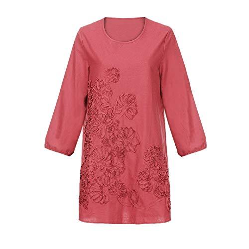 Biancheria Vestito sciolto Completi Quotidiano Casuale Rawdah donna Floreale cotone Cerimonia Mini Aderente Bohe sportivi da Rosso Patchwork ZPwTFq