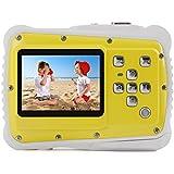 Kids Digital Camera – Waterproof to 3 Meters – HD Video Recorder and 5 Mega Pixels – Shockproof Childrens Camera (Yellow)