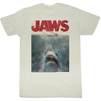 American Classics Men's Retro Jaws Terrifying 3D T-Shirt
