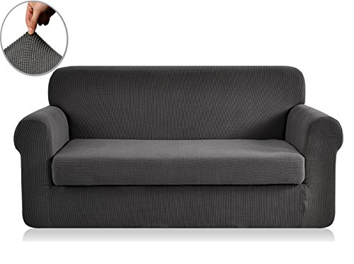 best chunyi 2 piece jacquard polyester spandex sofa slipcover sofa gray reviews from kempimages. Black Bedroom Furniture Sets. Home Design Ideas