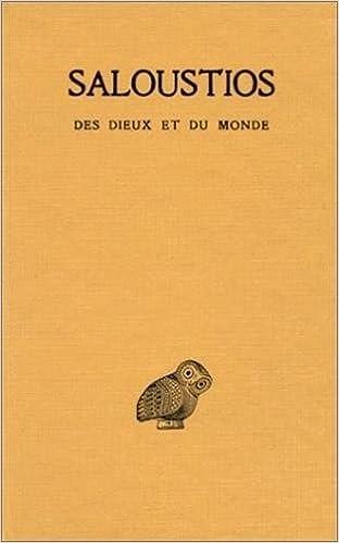 Read Online Des Dieux et du monde epub pdf