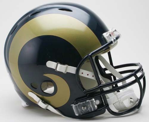 NFL Riddell St. Louis Rams Navy Blue Revolution Authentic Full-Size Helmet by Riddell