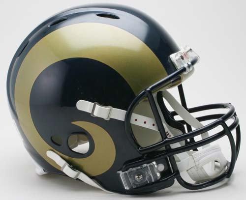 NFL Riddell St. Louis Rams Navy Blue Revolution Authentic Full-Size Helmet by Riddell