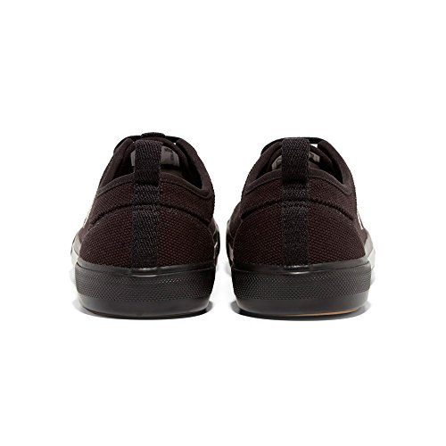 Fred Perry Horton Tela Blk B3190 Bianco e Nero. Sneaker Black Canvas