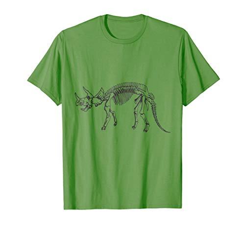 Triceratops Skeleton T-Shirt Dinosaur Fossil Bones Dino Tee -