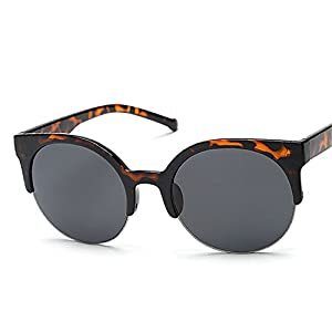 COOCOl Fashion Retro Sunglasses Women Semi-circular Frame Sun Glasses Unisex Vintage Men Sunglasses Cat Eye D