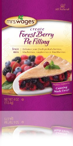 Mrs Wages Forest Berry Pie Filling-6-4ounch Packages