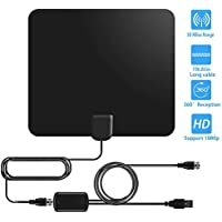 New 2018 VERSION HDTV Antenna, TV Antenna for Digital TV Indoor 50 Mile Range Amplifier 13 FT High Performance Coax Cable with Detachable Amplifier Signal Booster