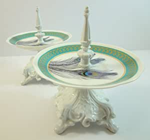 Mini Petit Four / Tea for One 1-tier Serving Dish Stand - Set of 2
