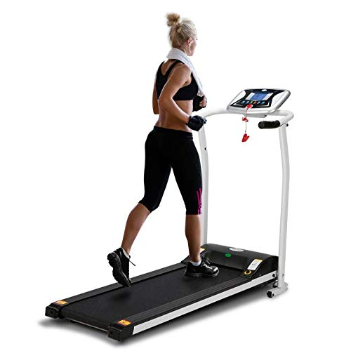 LONTEK Folding Treadmill,Home Fitness Gym,Sunny Health,5inch LCD,1.5HP DC,0.8-12km/h