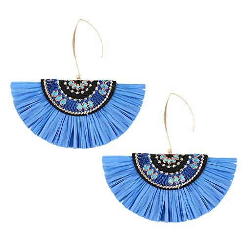 (Topgee Fashion Style Creative Golden Silk Tassel Metal Earrings Ladies Temperament Crystal Wild Earrings Women's Favorite Daily Earrings)