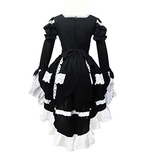 Kleid Lolita Victorian Damen Partiss Langarm Schwarz Lace Pink Multi Gothic Layers Ogxz8wxBn