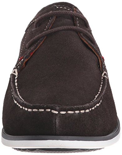 Hush Puppies Mens Briggs Portland Mocassino In Pelle Scamosciata Marrone Scuro