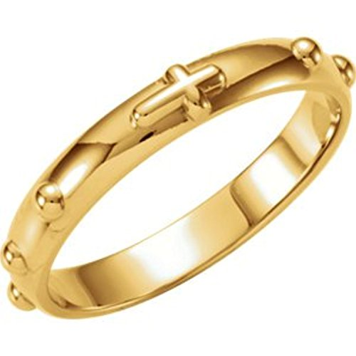 10k Yellow Gold Rosary Ring - 1