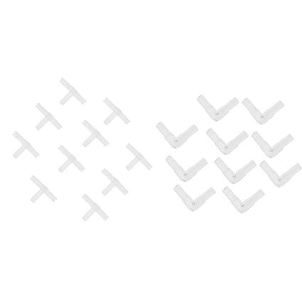 Sharplace Válvula de Retención Accesorios de Pecera Fácil Instalación Conector de Línea de Tubería