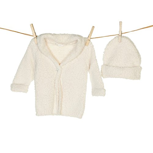 cozychic cardigan&hat set - cream s by Barefoot Dreams