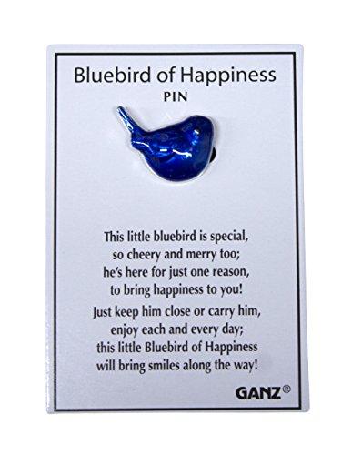 Bluebird of Happiness Metal Fashion Pin - By Ganz