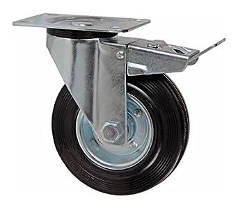 Ruedas termotex térmicas pivotantes con freno para carros y horno Rotor 100 mm/10 cm: Amazon.es: Industria, empresas y ciencia