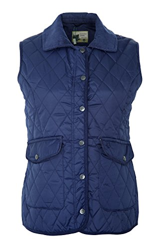 Jacket Womens Quilted Champion Country Estate Gilet Ladies Oscuro Riding Walking Azul Bodywarmer xqIzdqw5p