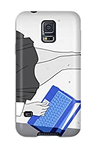 High Impact Dirt/shock Proof Case Cover For Galaxy S5 (hidamari Sketch)