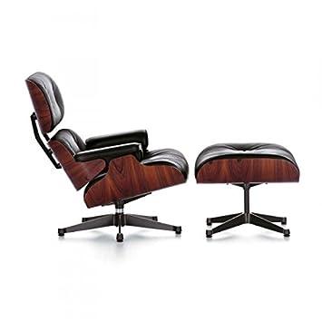Chaise Priv\'e Fauteuil Lounge avec repose-pieds Ottoman - Noir ...