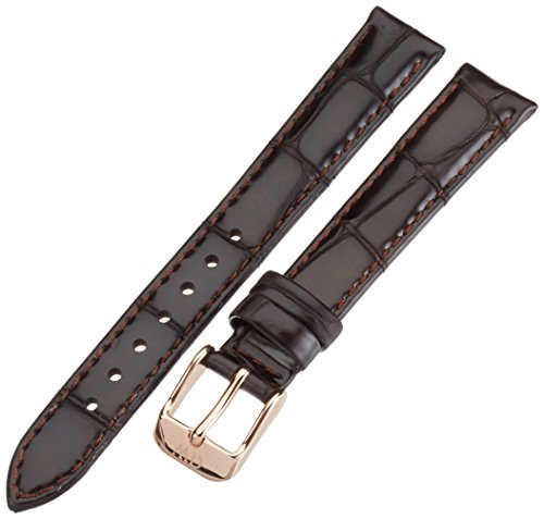 Daniel Wellington Classy York Women's Brown Leather Buckle Watch Strap with Rose Gold 1002DW (Wellington Daniel Classy)