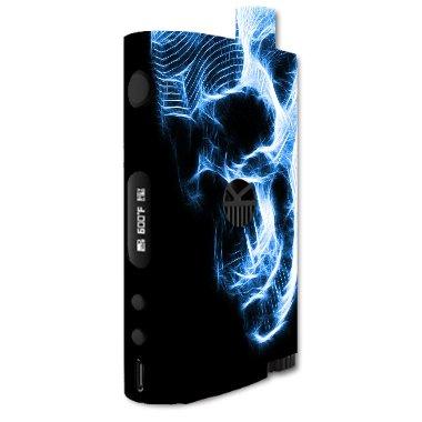 Kanger Nebox Kit Vape E-Cig Mod Box Vinyl DECAL STICKER Skin Wrap / Neon Skull Portrait Skeletal Zombie - Domestic Delivery Time Mail
