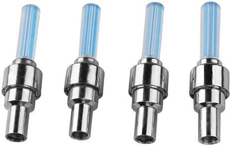 Easy Provider/® 4 X Bouchon De Valve Lumineux LED Bleu Pour V/élo Moto Voiture Scooter