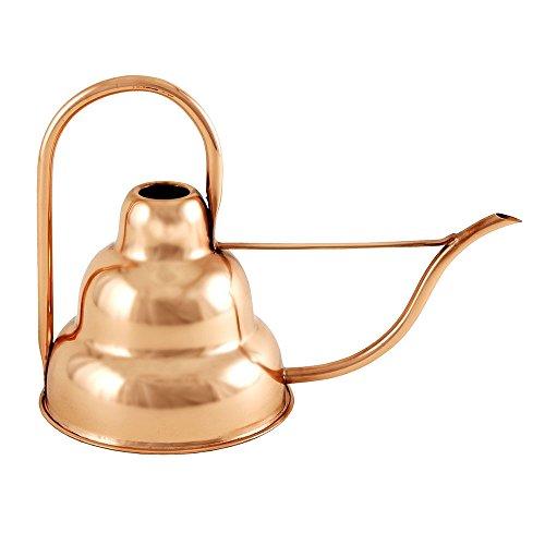 Achla Designs Deco Copper Watering Can, Copper, 1 quart (Leaf Copper Waterfalls)