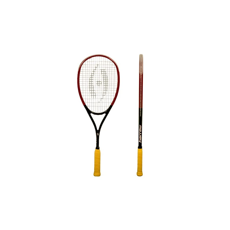 Harrow 65920502 2016 M 140 Squash Racquet, Black/Red/White